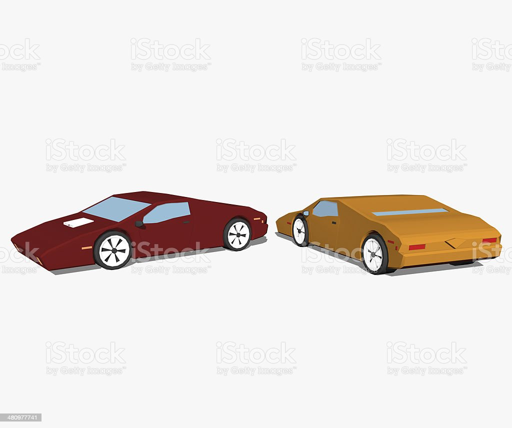 Cartoon cars stock photo