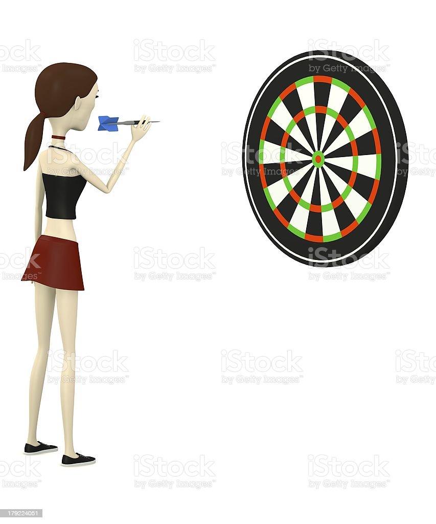 cartoon character with dart royalty-free stock photo