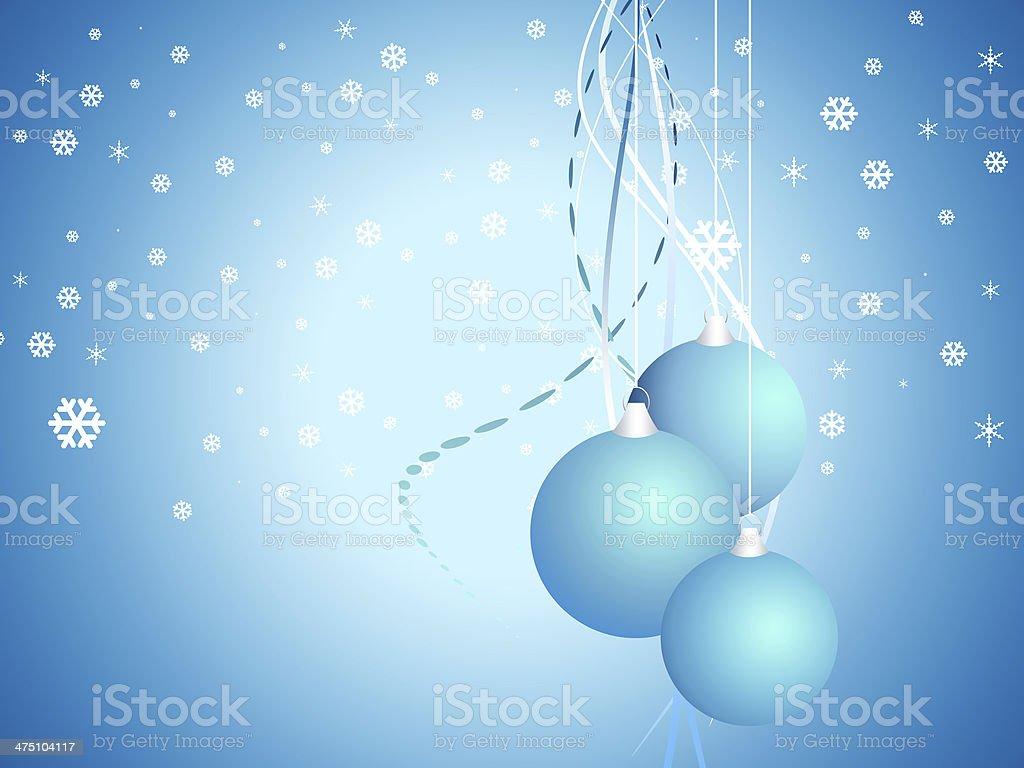 Cartoon  Christmas bell on snow blue background stock photo
