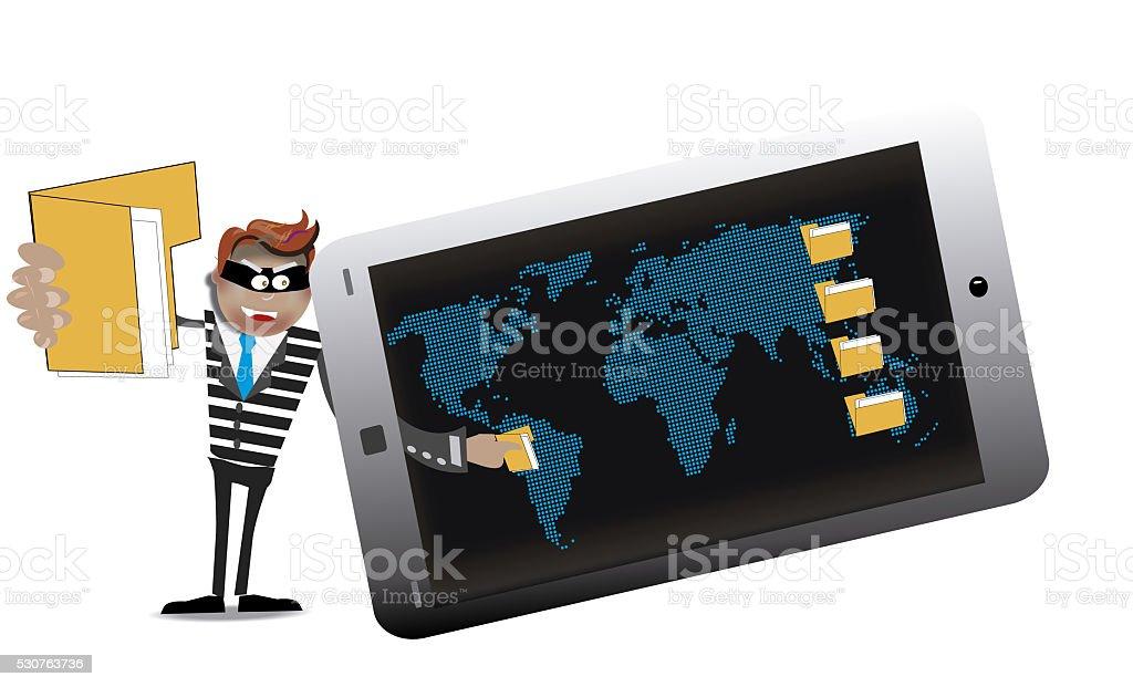 cartoon computer hacker stock photo