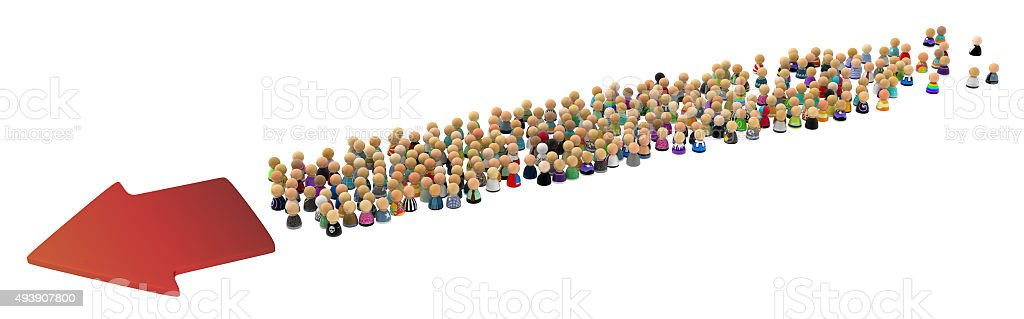 Cartoon Crowd, Directional stock photo