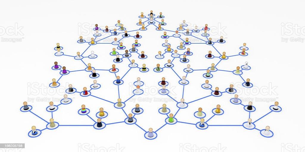 Cartoon Crowd, Hierarchy stock photo