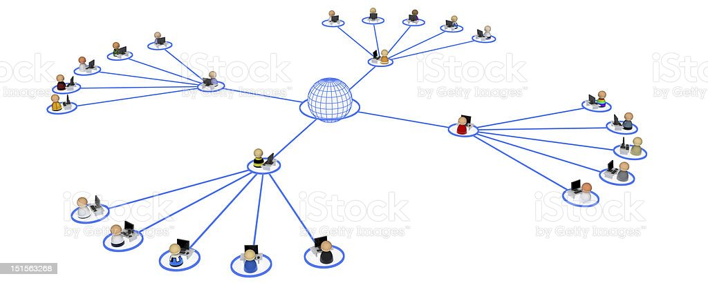 Cartoon Crowd, Network Proxies stock photo
