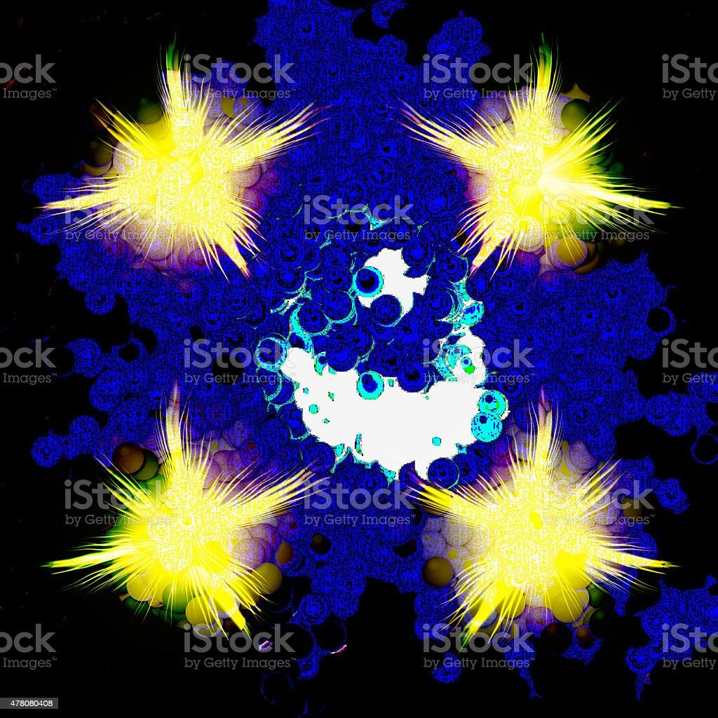 Cartoon explosion stock photo