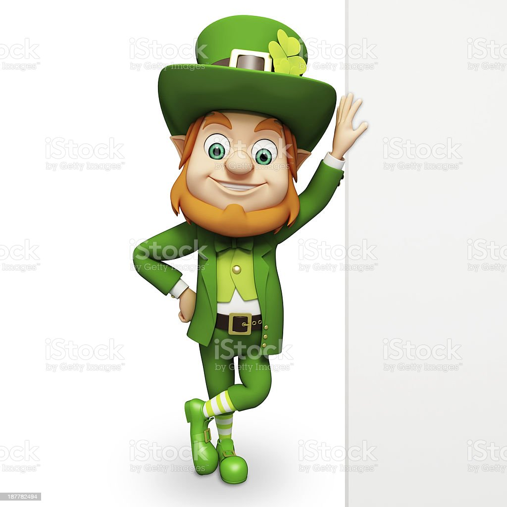 Cartoon image of St Patrick's day leprechaun stock photo