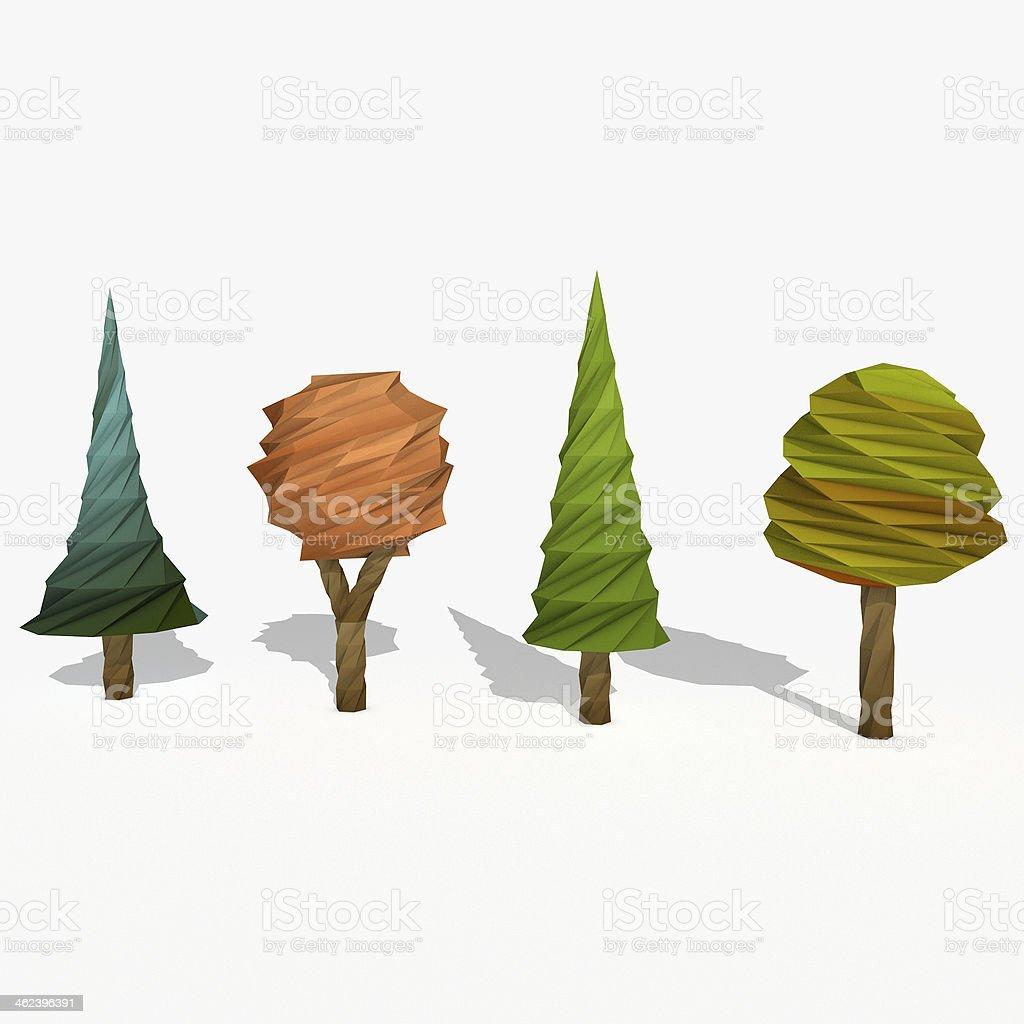 Cartoon trees stock photo