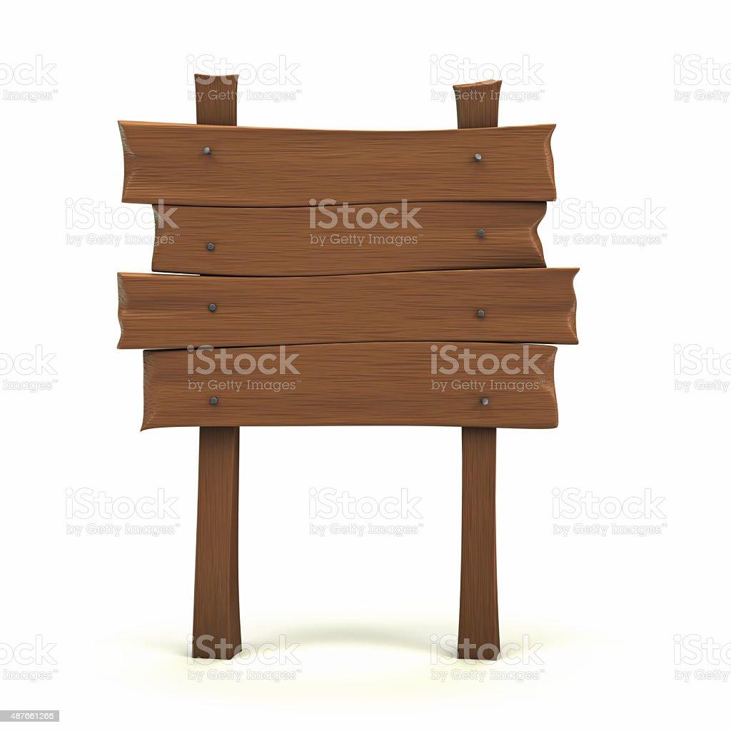cartoon wooden sign stock photo