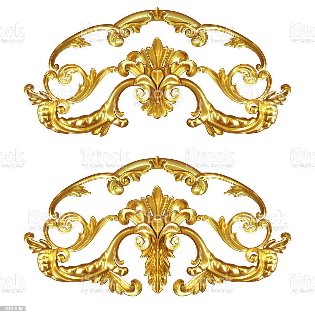cartouche gold stock photo