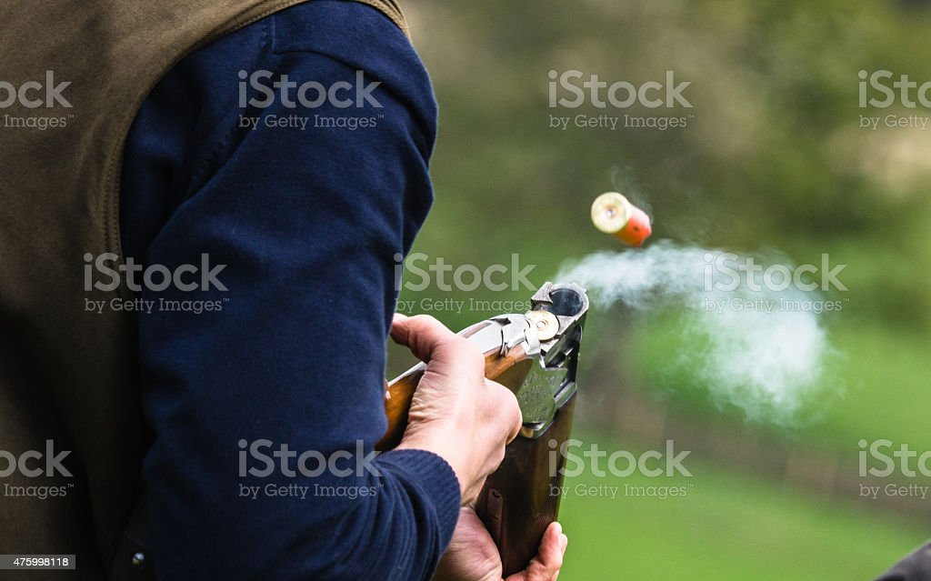 Cartridge ejected stock photo