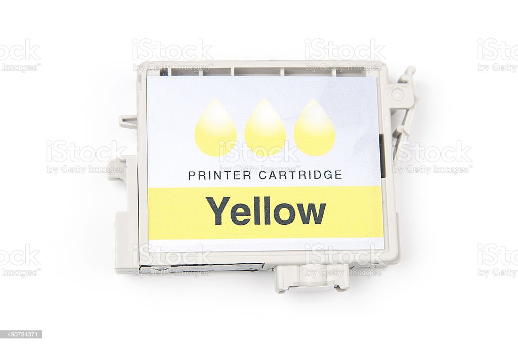 Cartridges for colour inkjet printer royalty-free stock photo