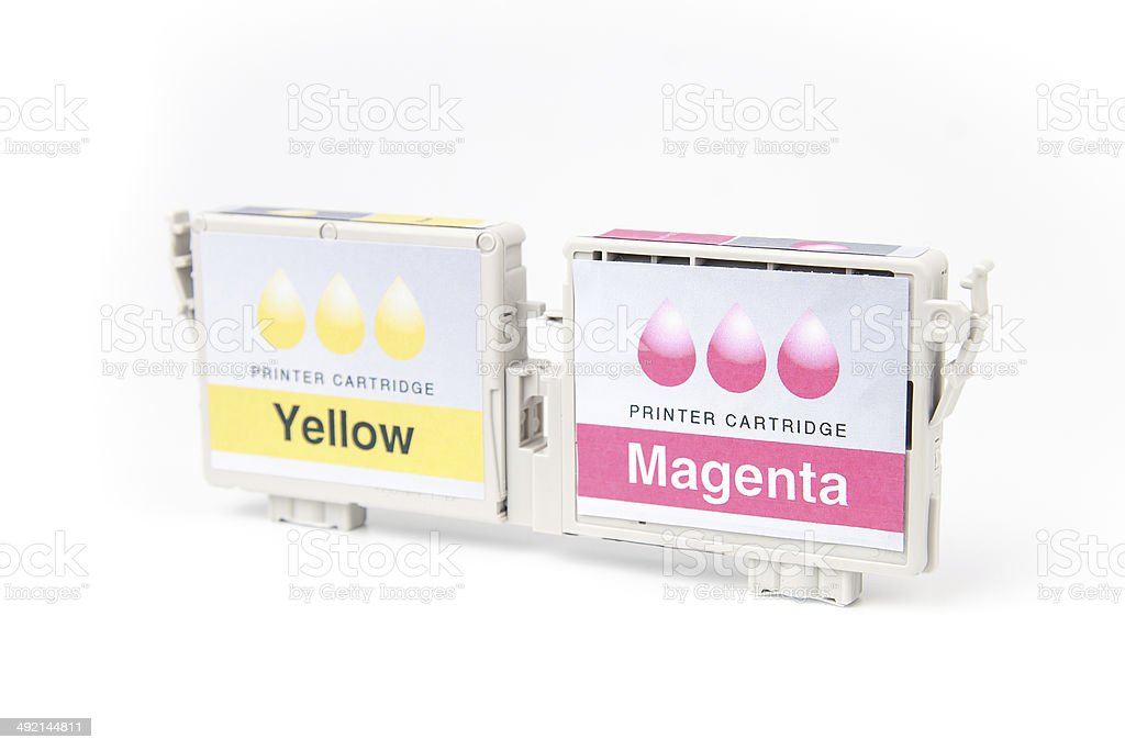 Cartridges for colour inkjet printer royalty-free stock photo
