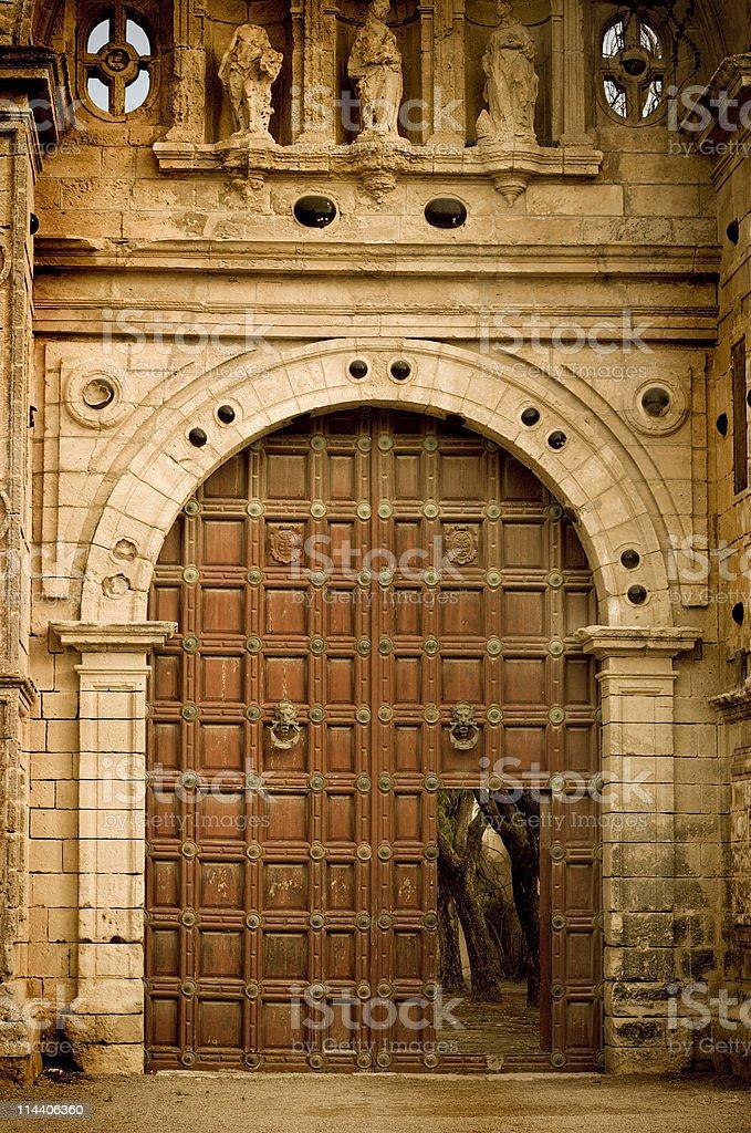 Cartuja Monastery Entrance royalty-free stock photo