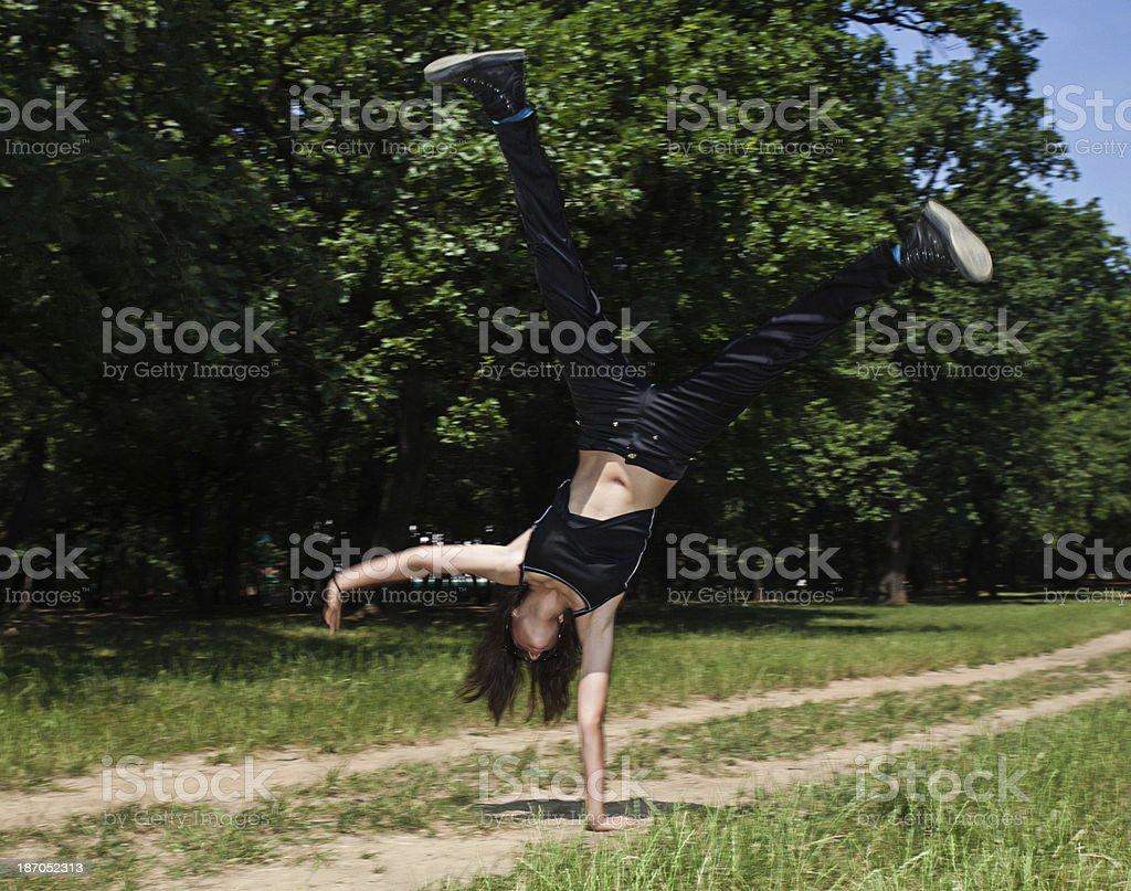Cartwheel royalty-free stock photo