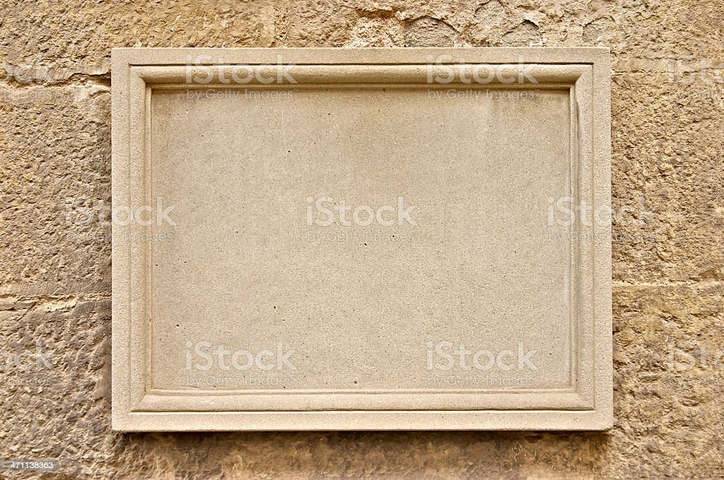 Carve it in Stone stock photo