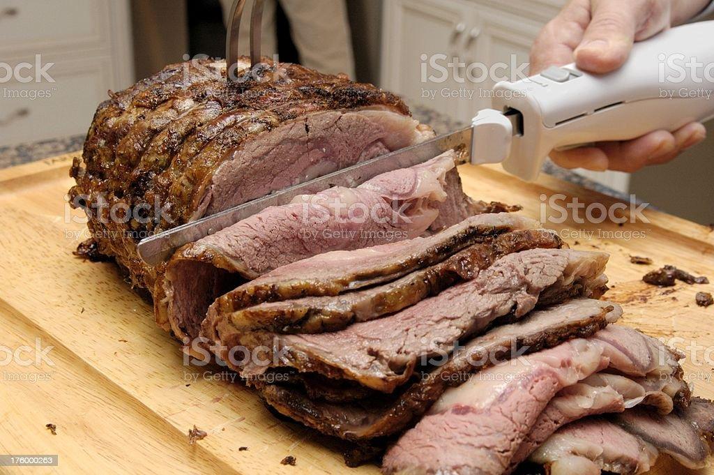 carve the roast stock photo