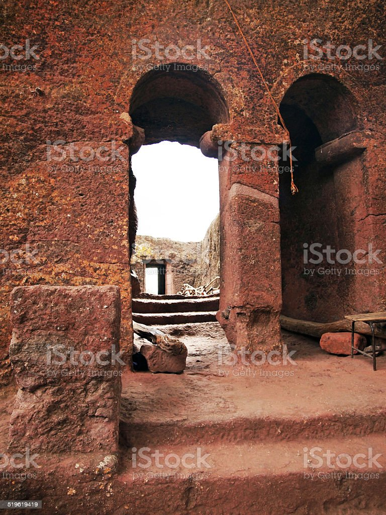 Carved Churches of Lalibela stock photo