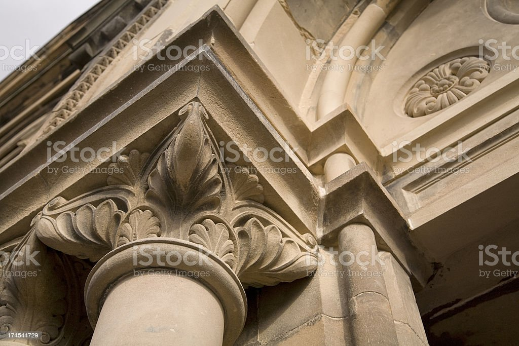 Carved column stock photo
