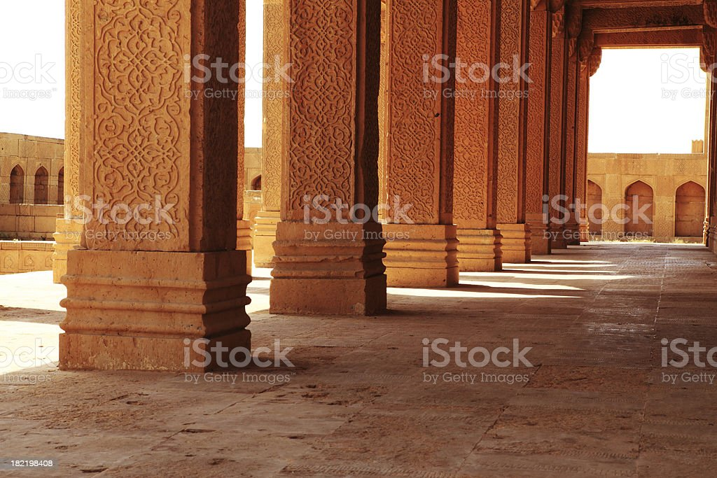 Carved Columns stock photo