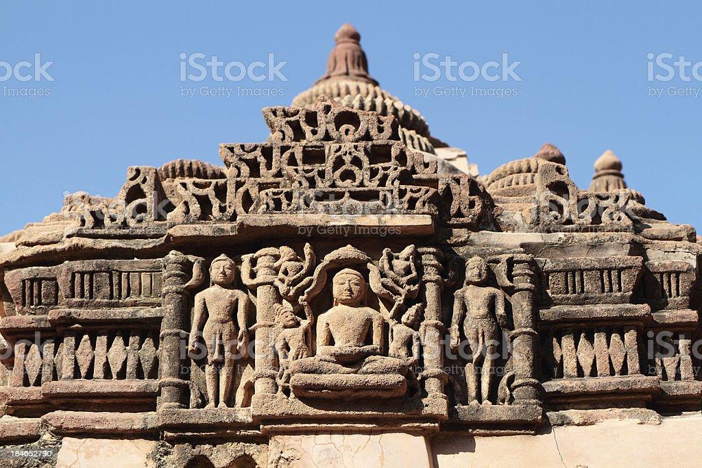 Carved Detail, Mahavira Jain Temple, Osian Rajasthan, India stock photo
