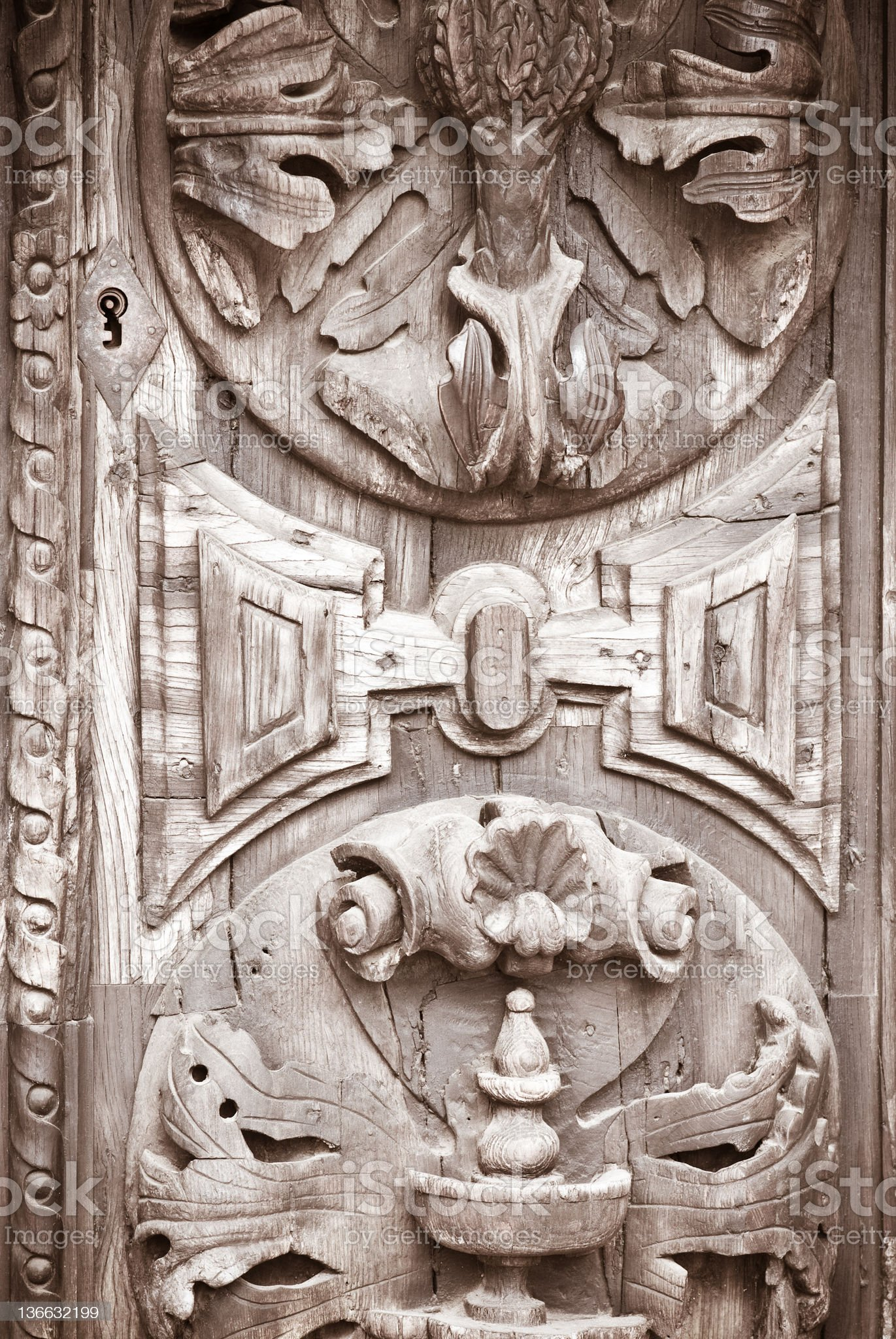 carved door royalty-free stock photo