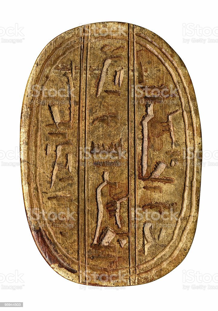carved egyptian symbols stock photo