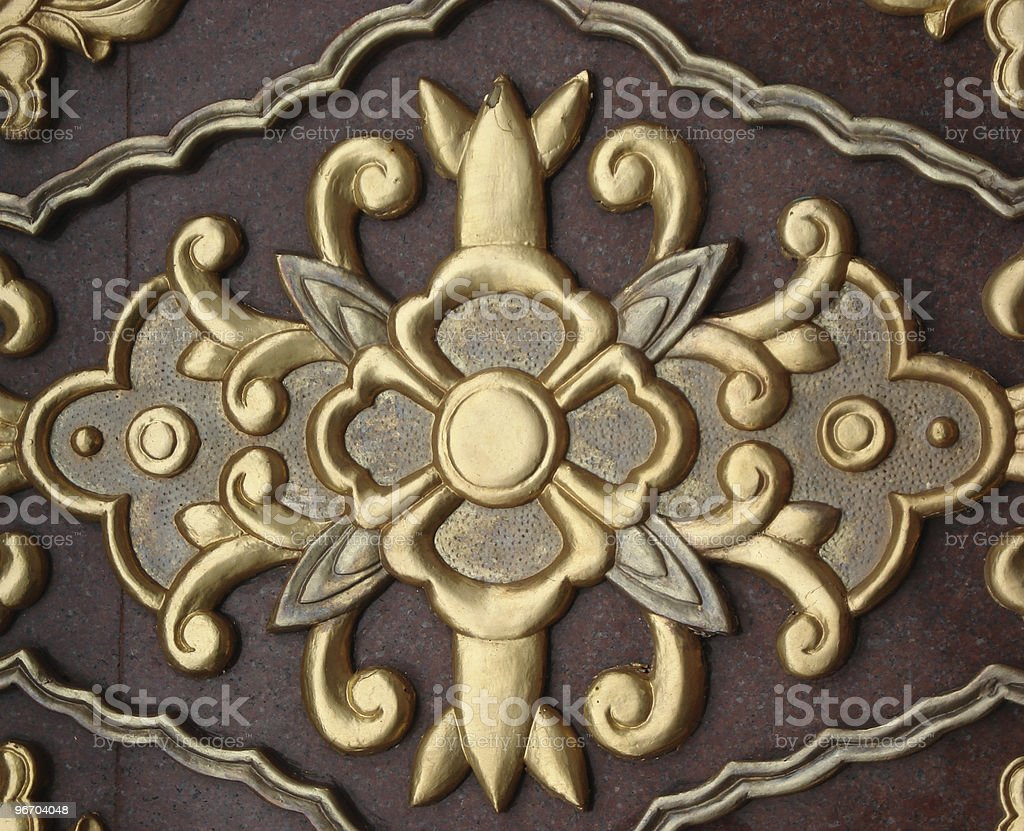 Carved Floral Decoration royalty-free stock photo