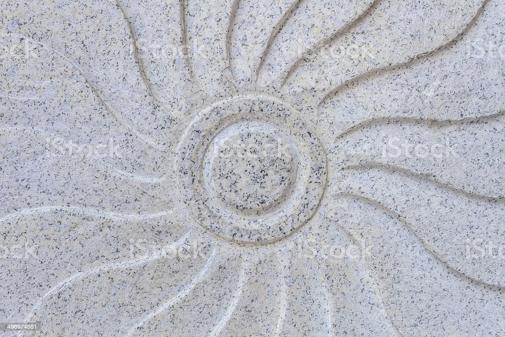 Carved granite surface. royalty-free stock photo