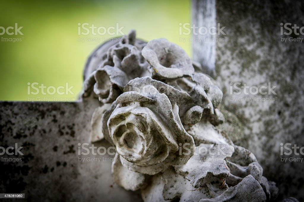 Carved Marble Roses stock photo