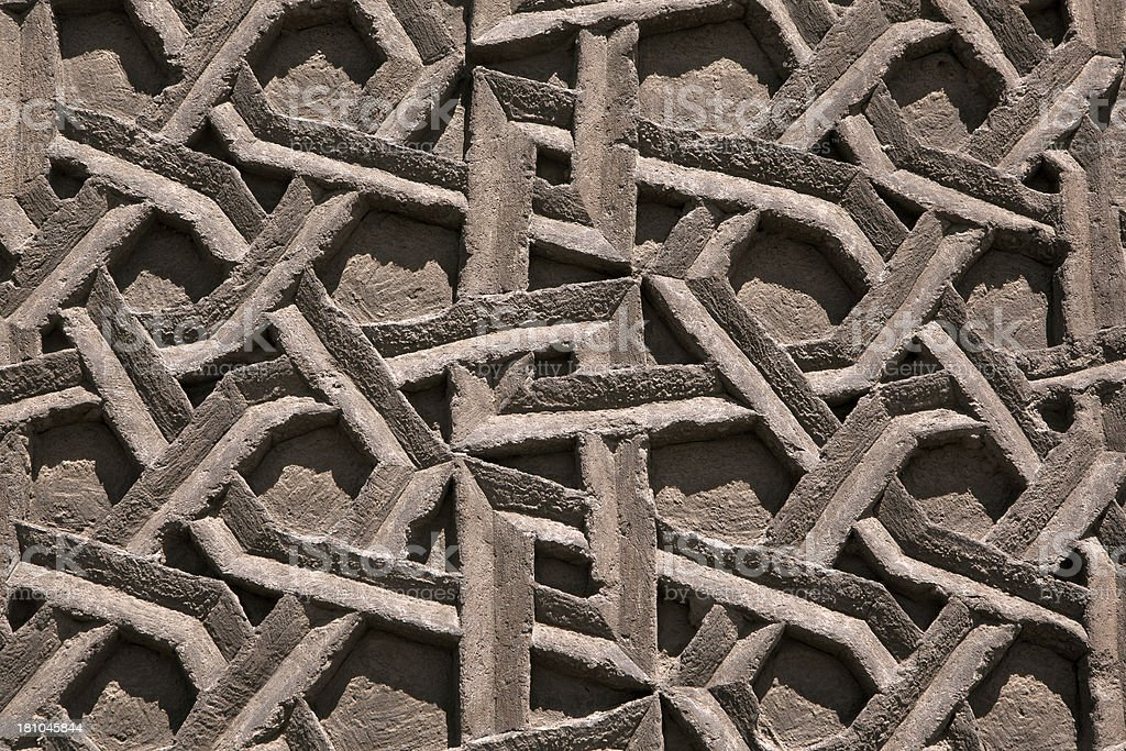 Carved patterns in marble royalty-free stock photo