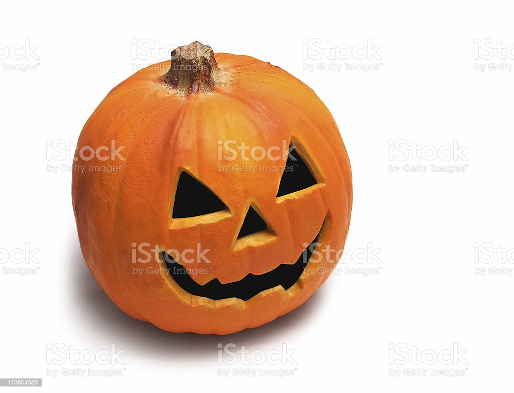 Carved Pumpkin (jack-o'-lantern) stock photo