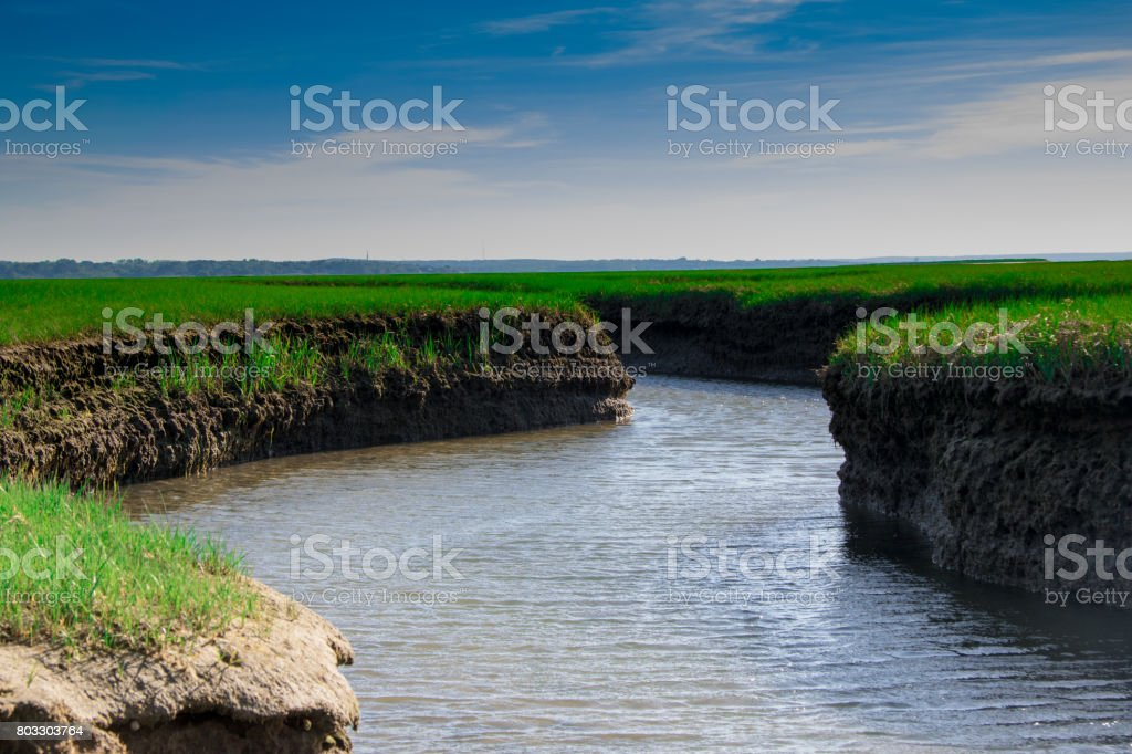 carved river stock photo