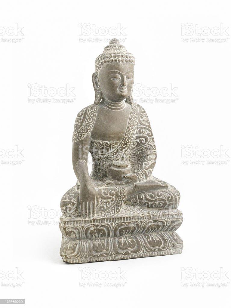 Carved Soapstone Buddha stock photo