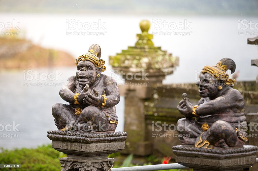carved statue in Hindu temple stock photo