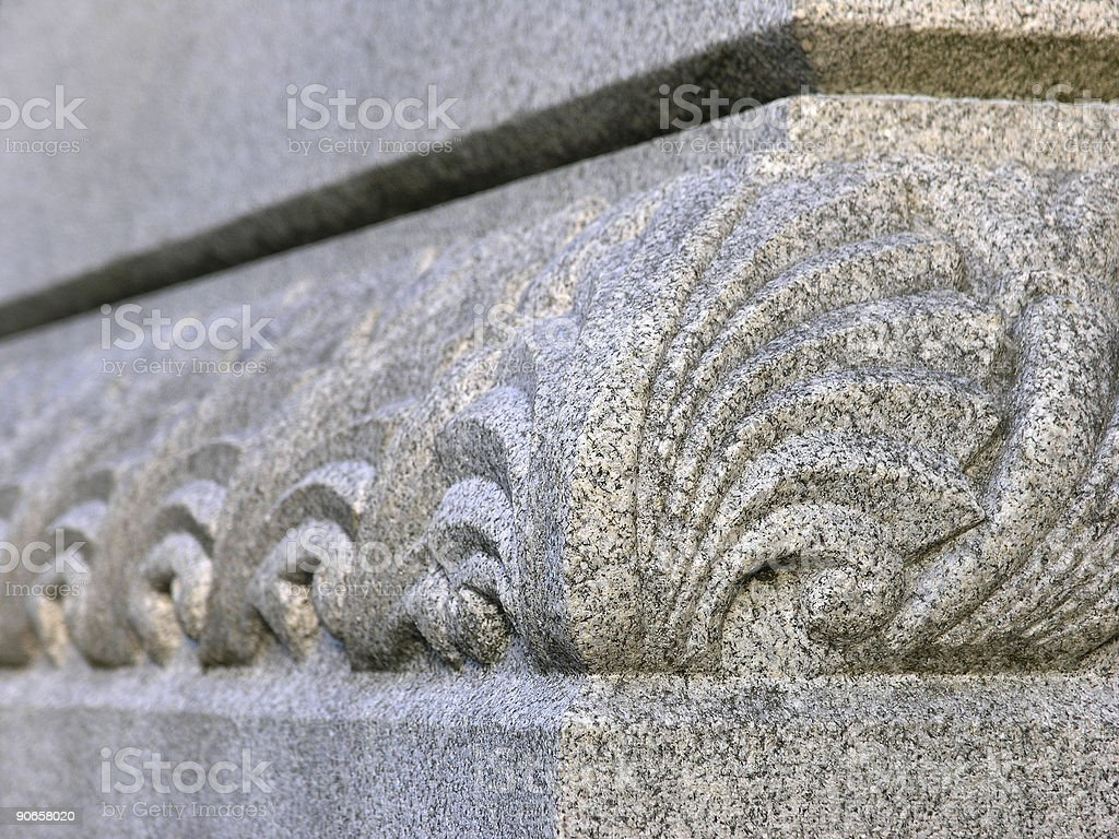 Carved Stone Design royalty-free stock photo