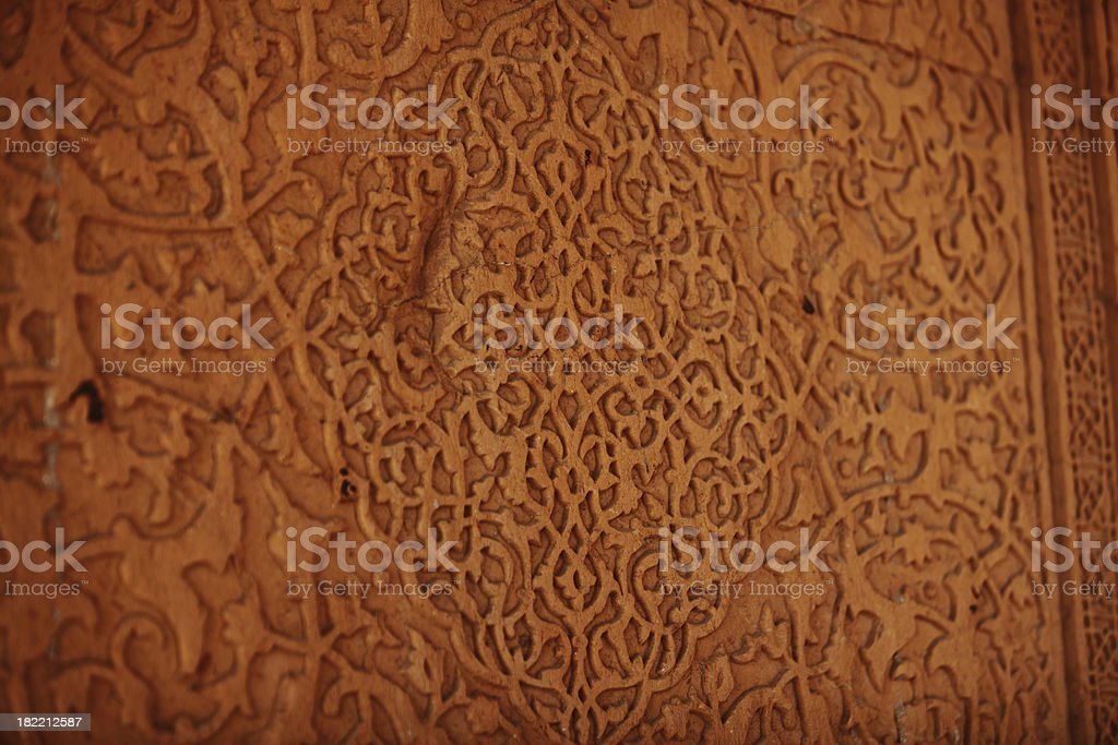 Carved Stone Wall Background stock photo