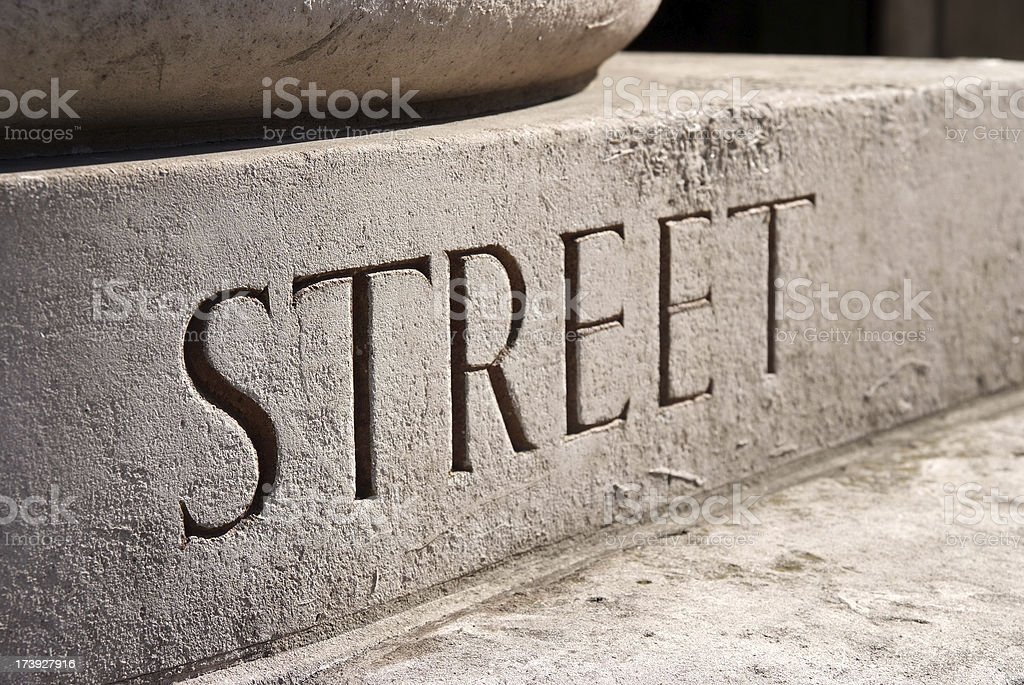 Carved street sign royalty-free stock photo