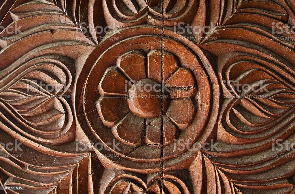 Carved wood pattern stock photo