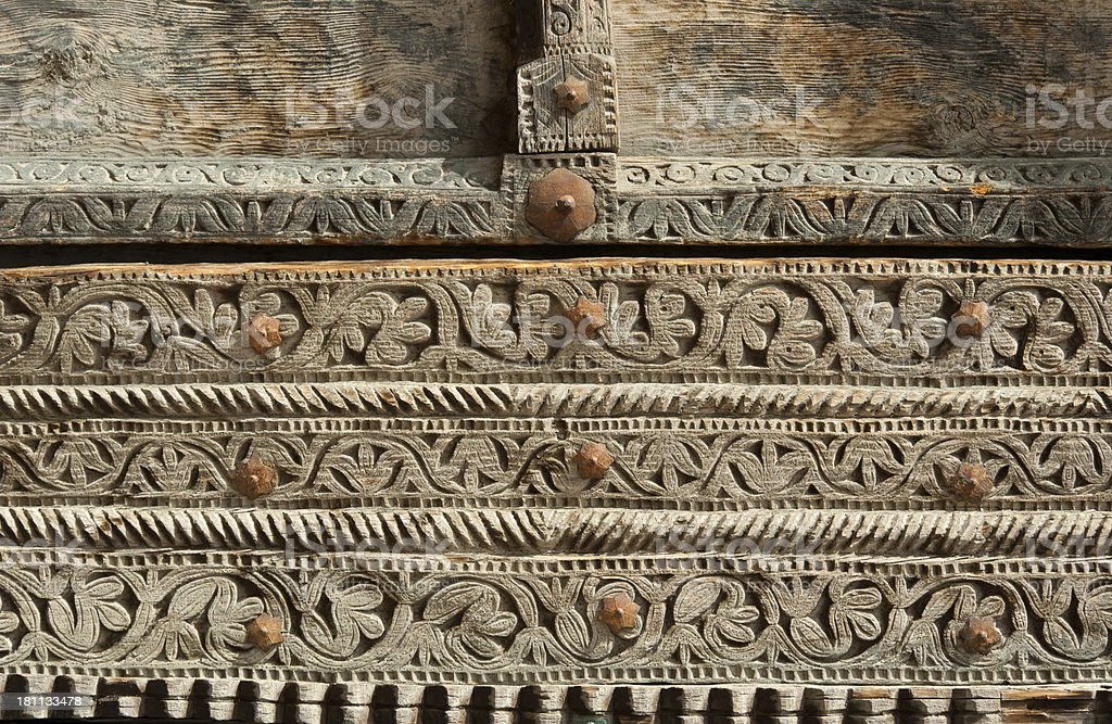 Carved Wood royalty-free stock photo