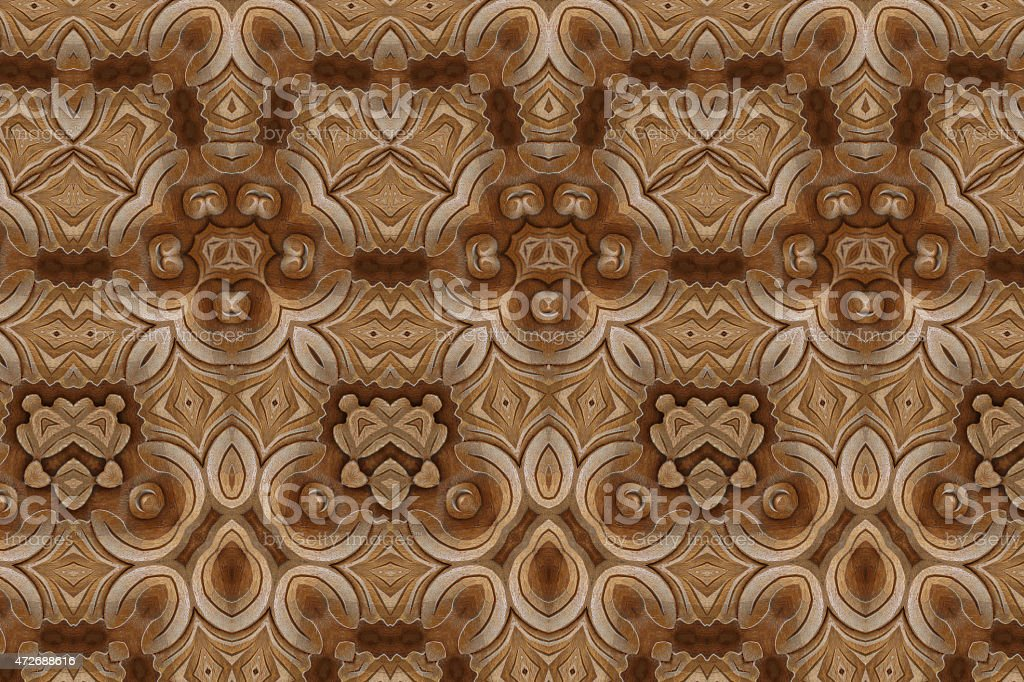 Carved wood wall close stock photo