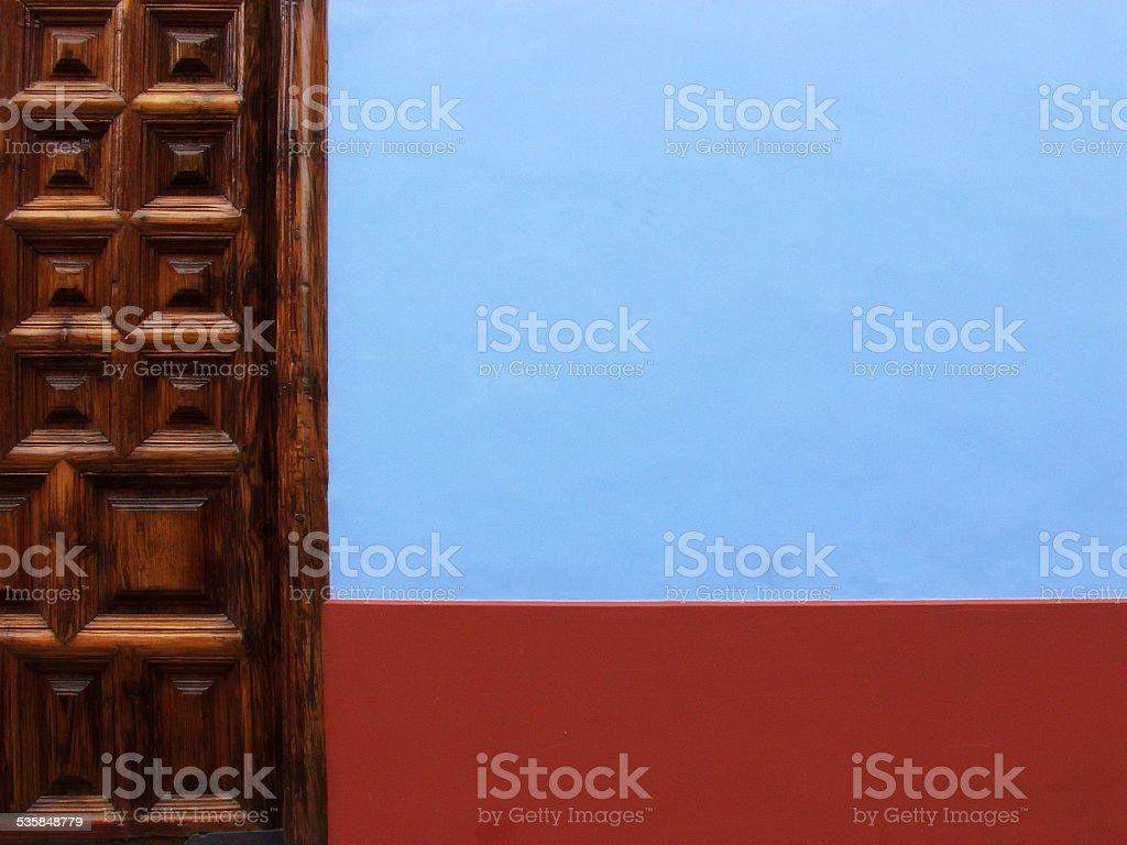 Carved Wooden Door stock photo