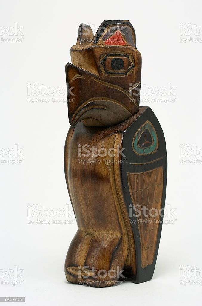 Carved wooden eagle stock photo