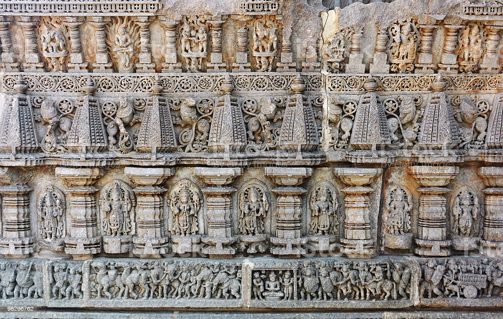 Carving At Keshava Temple royalty-free stock photo