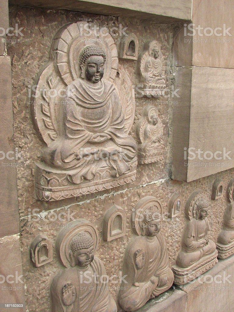 Carving Buddha, Xian, China royalty-free stock photo