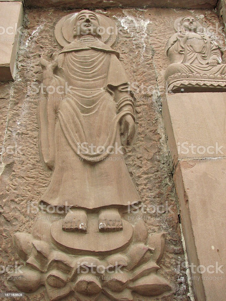 Carving Buddha, Xian, China royalty-free stock photo
