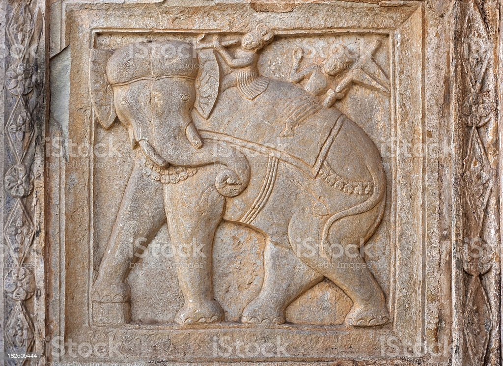 Carving From The 84 Pillared Cenotaph stock photo