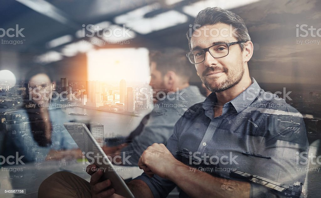 Carving his own career path stock photo