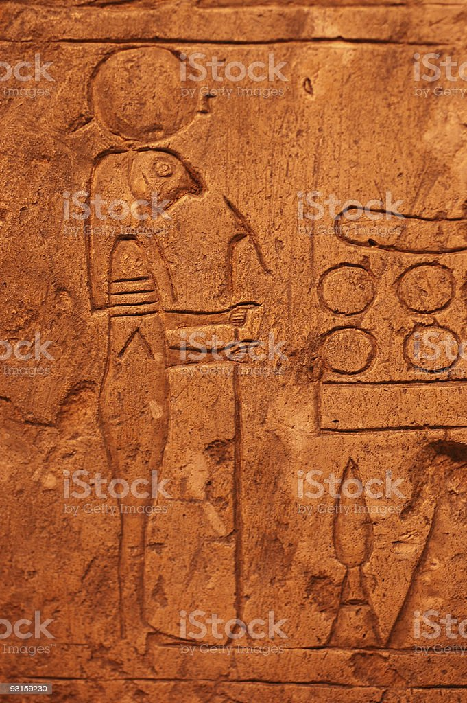 carving of Horus royalty-free stock photo
