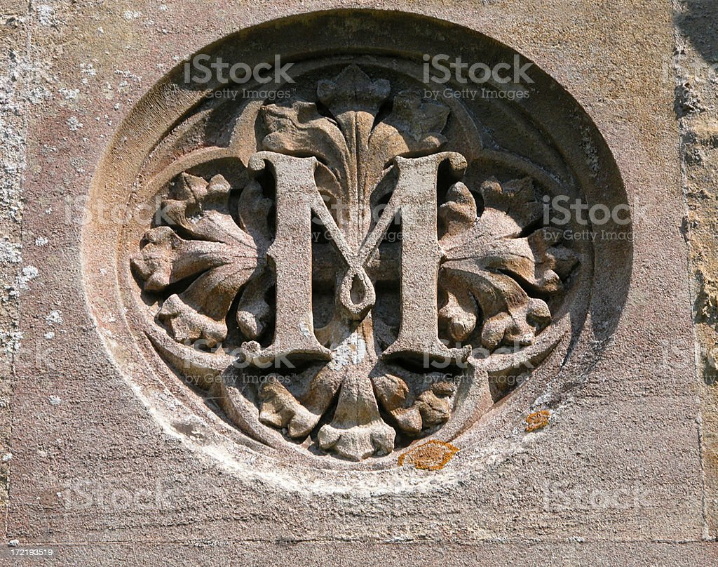 M carving royalty-free stock photo