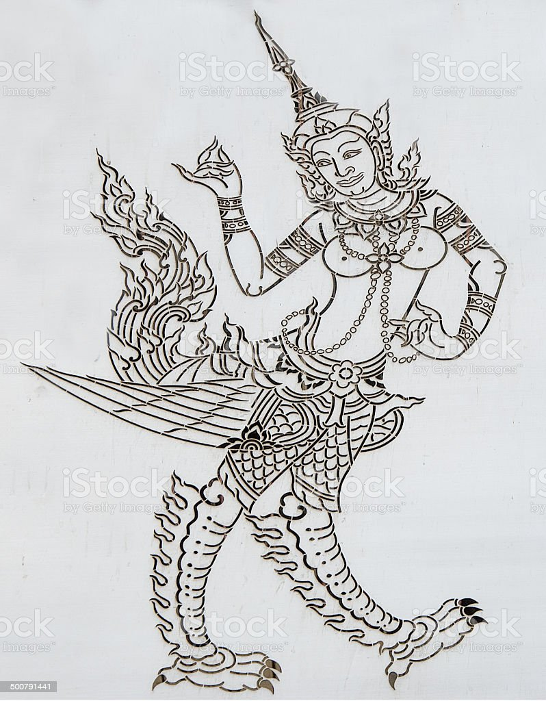 Carving stainless sheet of deva.This is traditional and generic stock photo