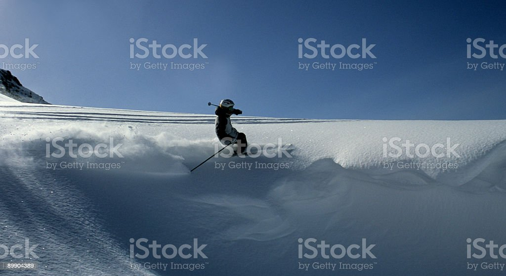Carving the Pow stock photo